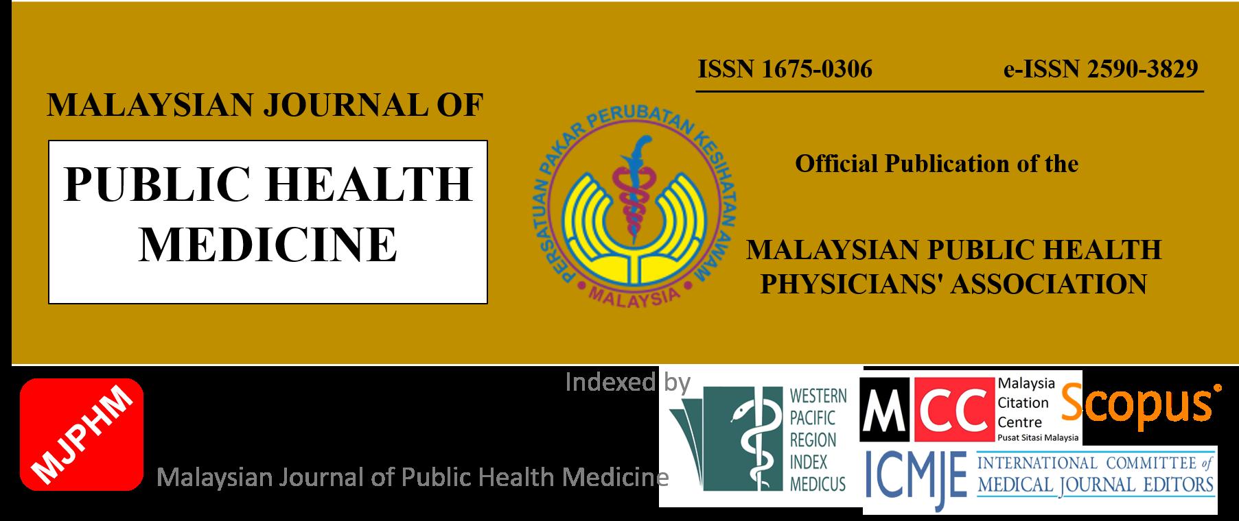 Malaysian Journal Of Public Health Medicine